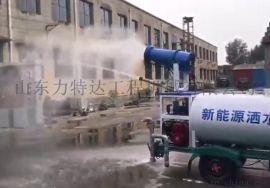 小型电动洒水车雾炮喷雾降尘车小三轮洒水喷水车