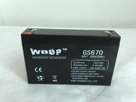 免维护铅酸蓄电池6V7AH