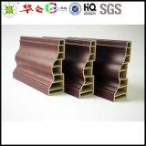 厂家出口定做12公分环保无铅竹木纤维集成快装墙板,配套装饰线,腰线,顶角线,踢脚线