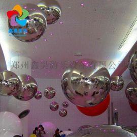 厂家直销彩色反光镜面充气球 圣诞舞台装饰充气镜面球 悬挂空中球