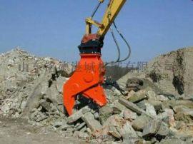 拆房子破碎钳 挖机液压粉碎钳 效率高