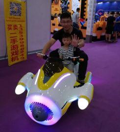新款广场快乐飞侠骑行车 室外儿童游乐设备 亲子骑行游戏机