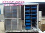 全自动大型商用56盘日产200斤彩钢苗菜机