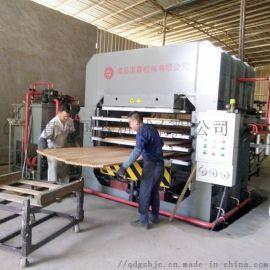 青岛国森牌新一代压制竹板材热压机设备