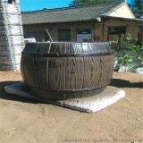 五湖厂家供应水泥罗马柱仿木漆