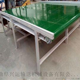 双层铝型材皮带输送线量身定制 车间用输送机