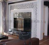 山東專業定製居簡約風格客廳白色花格電視背景牆鏤空板