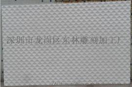 郑州雕刻厂家定制前台形象墙背景墙装饰板材立体波浪板