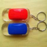創意汽車鑰匙扣仿真發光禮品紅藍雙閃LED燈鑰匙掛件