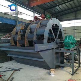 机制砂洗砂机工作视频 高效三排叶轮洗砂机厂家