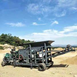 大型移动碎石机 锤式鄂式粉碎机 流动式鹅卵石制砂机