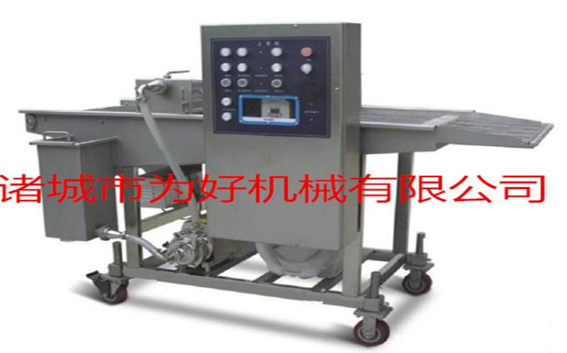 自动化毛毛鱼裹浆机裹粉机一起使用