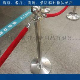 小号排队柱挂绳临时护栏白钢礼宾杆定做机场VIP通道护栏车展围栏