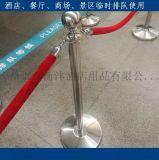 小號排隊柱掛繩臨時護欄白鋼禮賓杆定做機場VIP通道護欄車展圍欄