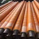 呼和浩特 鑫龍日升 耐高溫鋼套鋼蒸汽保溫管 黑皮子聚氨酯保溫管