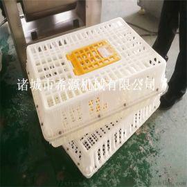 广东滚筒式鸡笼清洗机 大型鸡笼清洗过滤消毒成套设备