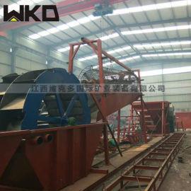 湖北恩施生产高效洗砂机 大处理量轮斗洗砂机规格