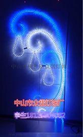 美化LED雨傘禮盒造型燈星星窗簾跨街燈雪花過街燈