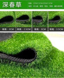 塑料仿真人造草坪 浅绿三色人造草坪 幼儿园人造草坪