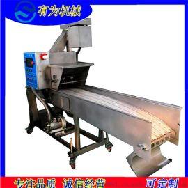 厂家脆皮带鱼裹糠机 脆皮带鱼段挂糊上糠机
