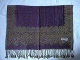 提花仿羊絨圍巾(披肩)-4