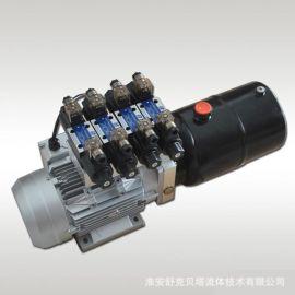 220V2.2KW-DC24V-6升油箱-4组双作用电磁换向阀
