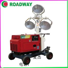 路得威移动照明车1000*3KW移动照明车厂家直销 RWZM22C手推式照明车厂家主打热 照明车