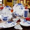 订制景德镇青花瓷餐具,青花瓷碗,青花瓷盘