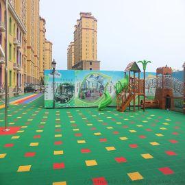 幼儿园塑胶地板 篮球场拼装地板 防滑塑胶地垫