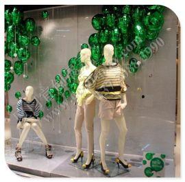 店铺橱窗 橱窗道具 展示道具 商城美陈道具