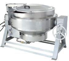 北京益友中央厨房设备全不锈钢YY-200型燃气加热可倾汤锅