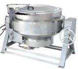 北京益友中央廚房設備全不鏽鋼YY-200型燃氣加熱可傾湯鍋