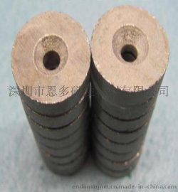 耐高温350度舞台灯高温圆形沉头孔磁铁 Φ18-Φ8/Φ4mm*5mm 锡炉回流焊治具钐钴强力磁铁