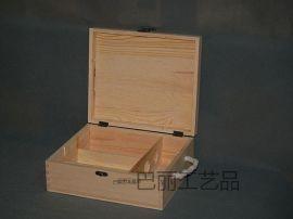 双支红酒木盒BL-002订做各种规格红酒白酒木盒,木质茶叶盒