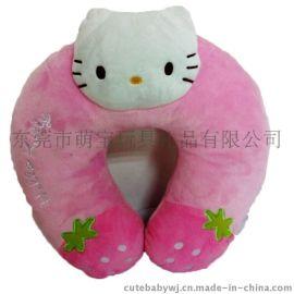 卡通U型枕 毛绒布艺抱枕 动物造型颈枕 儿童礼品