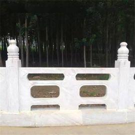 曲阳汉白玉石雕栏板 桥梁石雕护栏 栏杆雕刻批发安装厂家