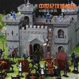 玩模乐中世纪城堡套装古罗马骑士 多投石车攻城弩多战马儿童玩具批发