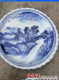 陶瓷大盘|两层大盘|;饭店特色大盘子|景德镇海鲜大盘子生产厂家