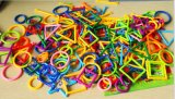 聰明積木棒塑料拼插大顆粒益智拼裝幼兒園兒童玩具積木3-6週歲聰明智力棒積木拼插拼裝兒童益智3-5-6週歲拼搭男女孩啓蒙玩具