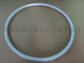 山地自行车铝合金车圈钢圈轮组26寸28孔
