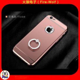 金属指环扣支架电镀手机壳 时尚手机支架保护套 深圳厂家