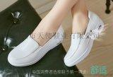 新款真皮白色護士鞋抗震彈力氣墊女單鞋防滑工作鞋