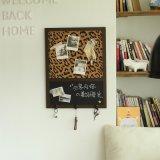 精耐特 创意zakka磁性小黑板 豹纹背景留言墙 挂式 家居墙壁软装