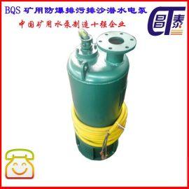 小功率防爆潜水泵 BQS1.5kw矿用防爆排污潜水泵
