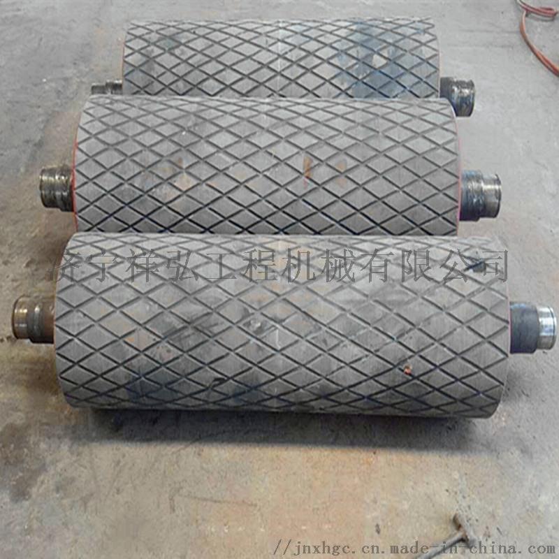 洗煤厂铸胶改向滚筒 标准滚筒 带瓦架改向滚筒