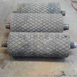 洗煤廠鑄膠改向滾筒 標準滾筒 帶瓦架改向滾筒