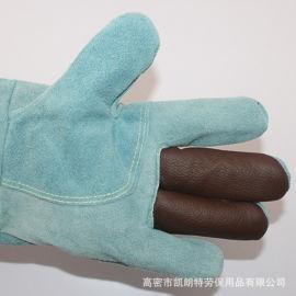 真皮 耐高温耐磨损 劳保焊接专用手套 短款隔热手套