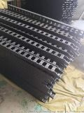 全黑色轻型塑料拖链+梳装板 机器人 电缆尼龙拖链