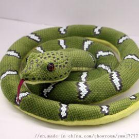 可爱毛绒玩具,仿真长蛇