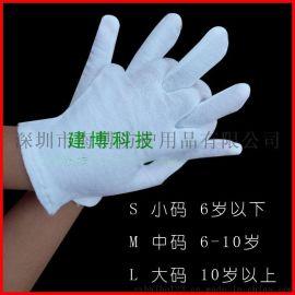 白色儿童手套 安全无刺激 纯棉儿童手套运动会歌舞幼儿手套